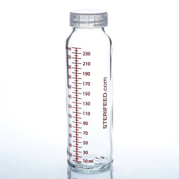 Sterifeed 240ml glass breast milk bottle